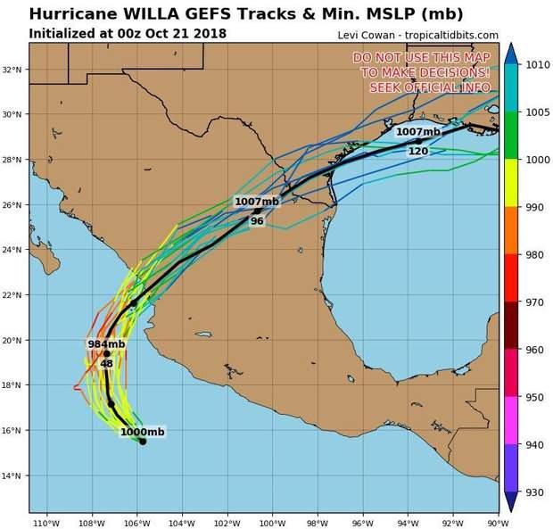 Тихий океан, Ураган Уілла, Мексика