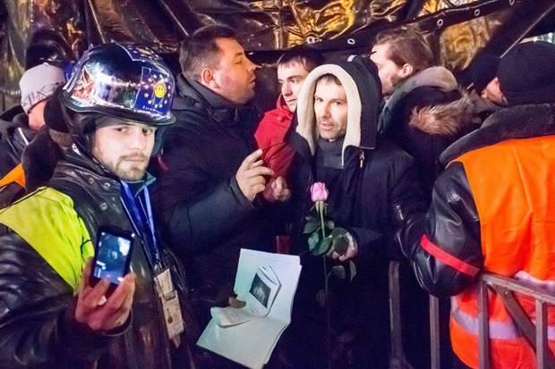 Святослав Вакарчук на Майдані під час Революції Гідності
