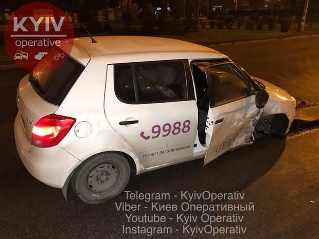 ДТП, Киев, Uber, такси, алкоголь