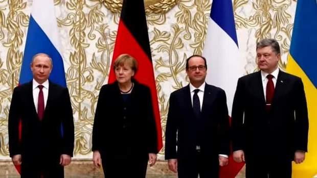 Меркель Путін війна на Донбасі Олланд