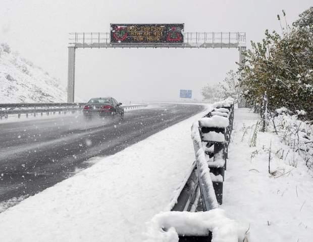 негода Європа сніг Іспанія