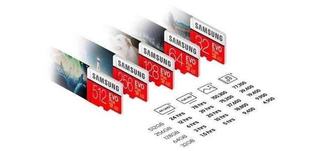 microSD-карта від Samsung на 512 ГБ надійшла у продаж