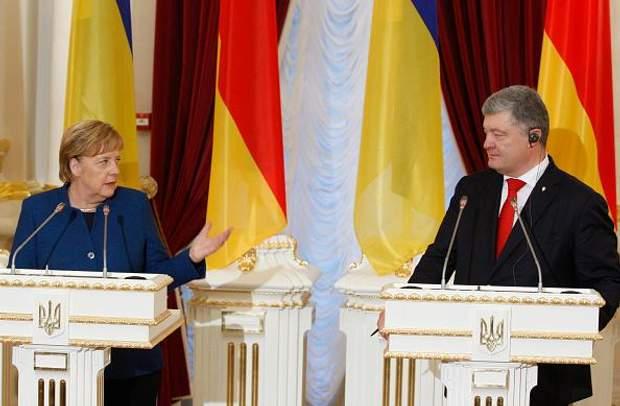 Меркель і Поршенко на прес-конференції в Києві 1 листопада