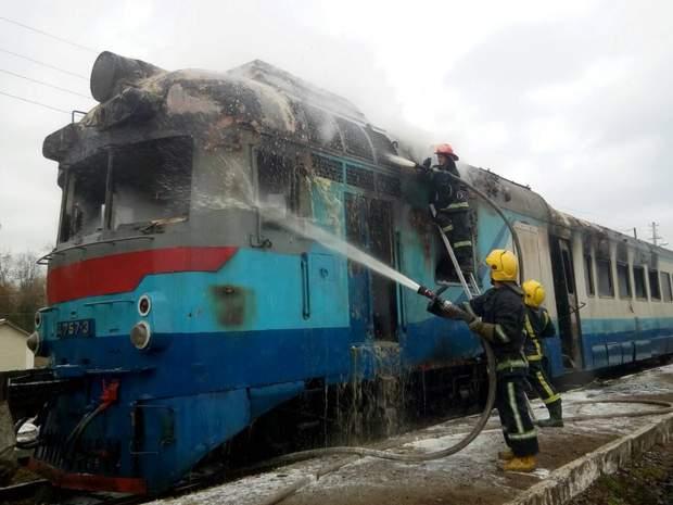 пожежа Рівне поїзд