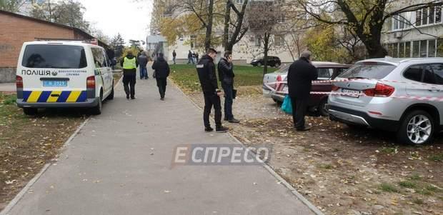 Місце вибуху у Києві