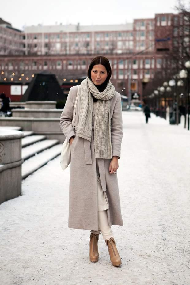шарф зима