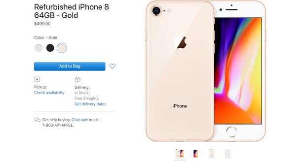 Apple почала продавати відновлені iPhone 8 і 8 Plus