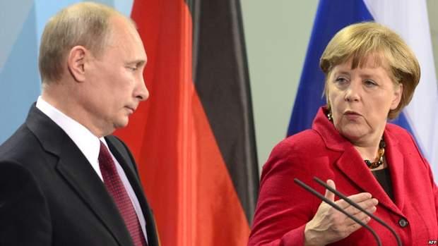 Путін Меркель війна на Донбасі
