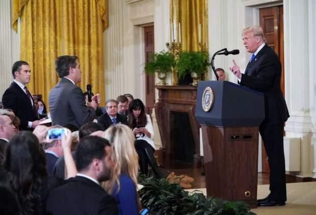 Фото с прес-конференции Трампа