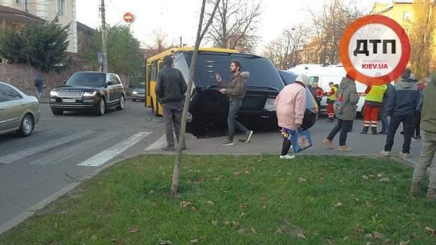 ДТП,  Київ. маршрутка, транспорт, потерпілі