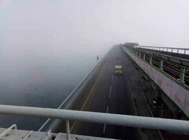 Через туман видимість сягала лише 50-ти метрів