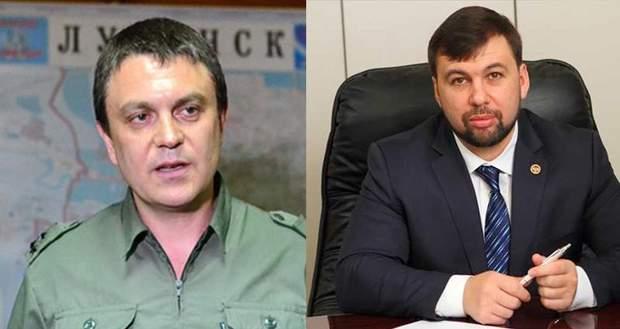 Леонід Пасічник (ліворуч) та Денис Пушилін (праворуч)