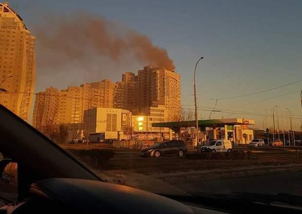 Київ пожежа ЖК Парк Стоун