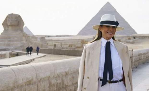 меланія трамп єгипет