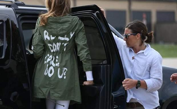 меланія трамп і куртка мені все одно мне наплевать