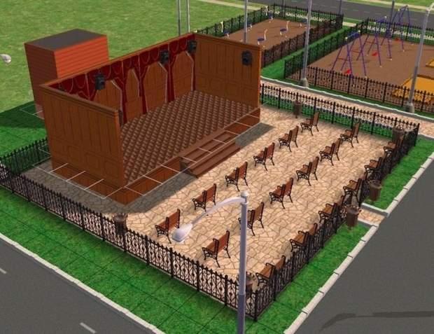 Проект дворів та будинків одного із селищ в Росії, змодельований в The Sims 2