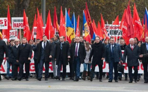 Молдова Марш Додон