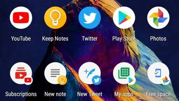 Створення ярликів на Android-смартфонах