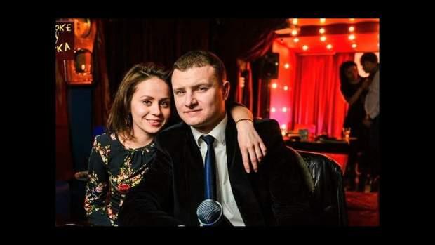 Оксана Сорочинська з чоловіком