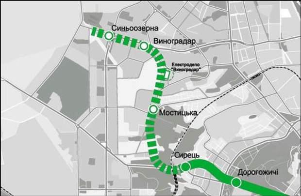 метро Виноградар карта
