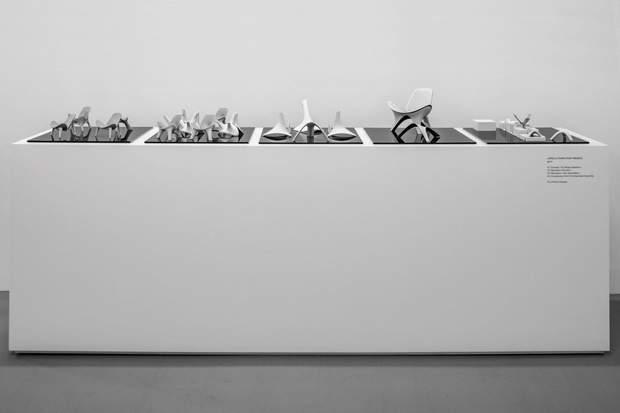 роботи Заха Хадід макети виставка