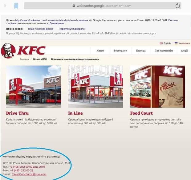 KFC скандал Будинок профспілок Київ Росія