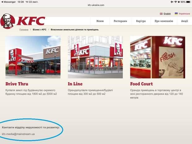 Сайт KFC Росія Київ Будинок профспілок скандал протести