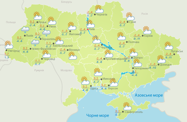 Прогноз погоди в Україні