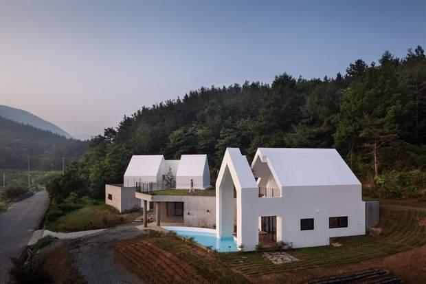 будинок архітектура дерево Південна Корея
