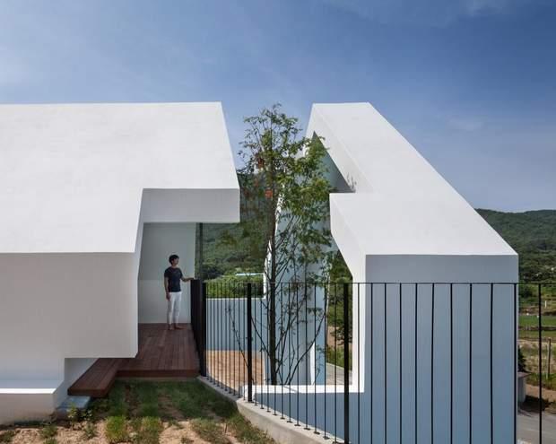Будинок з деревом у Південній Кореї