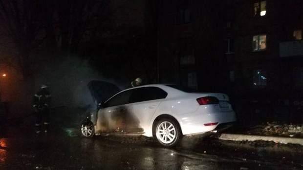 Пожежа, Київ, посольство РФ