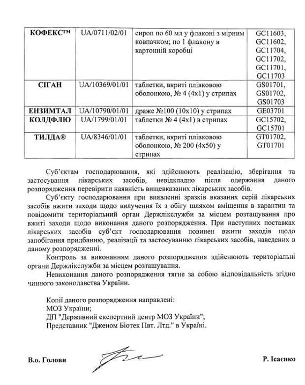 В Украине запретили известный противовирусный препарат «Колдфлю ...   784x620