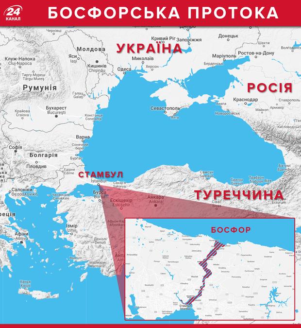 Протока Босфор карта