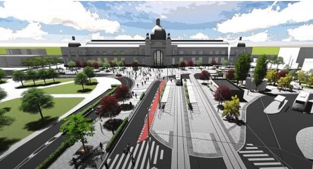 Львів реконструкція площа вокзал