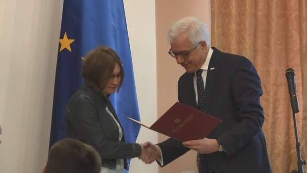 Яцек Чапутовіч вручив нагороду сестрі Сенцова Наталії Каплан