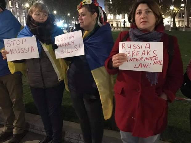 мітинг лондон російська агресія