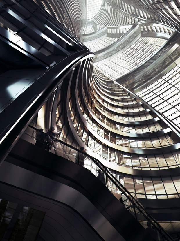 Пекін атріум хмарочос Zaha Hadid Architects