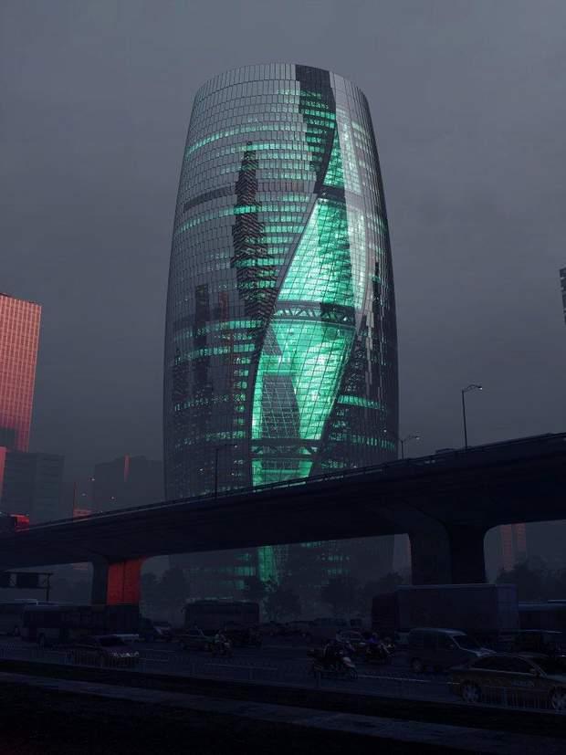 хмарочос Пекін вежа атріум
