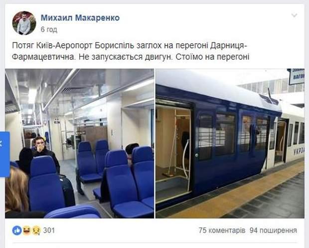 Експрес Київ Бориспіль Укрзалізниця