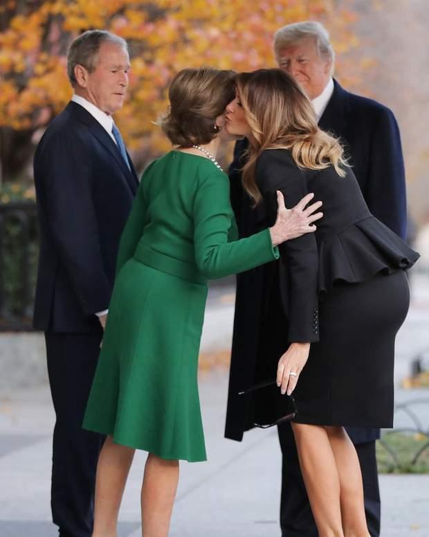 Меланія Трамп і Лора Буш