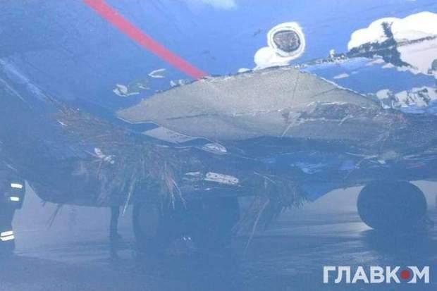 літак Бориспіль аварія
