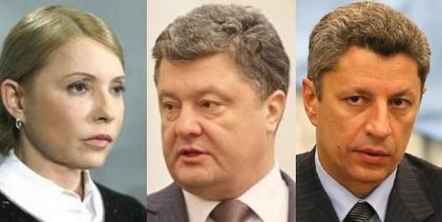 Порошенко Тимошенко Бойко