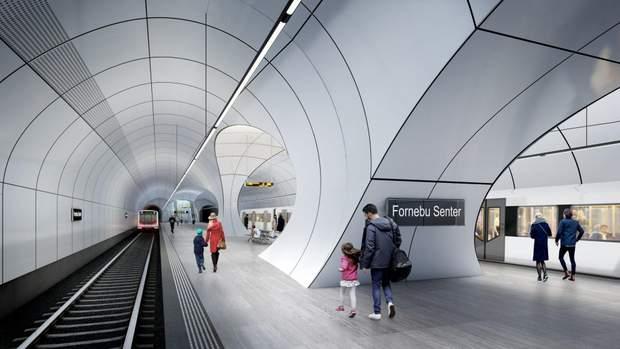метро Осло Норвегія Заха Хадід
