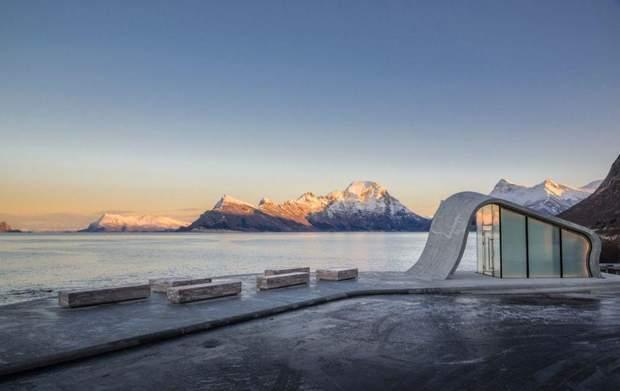 Туалет Норвегія полярне сяйво