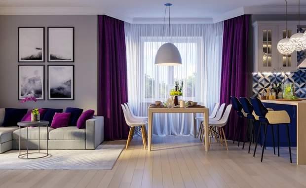 тренди дизайн інтер'єр фіолетовий