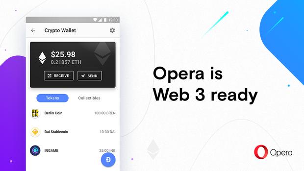 Opera, браузер, Android, блокчейн, криптовалюта, Web 3, Ethereum