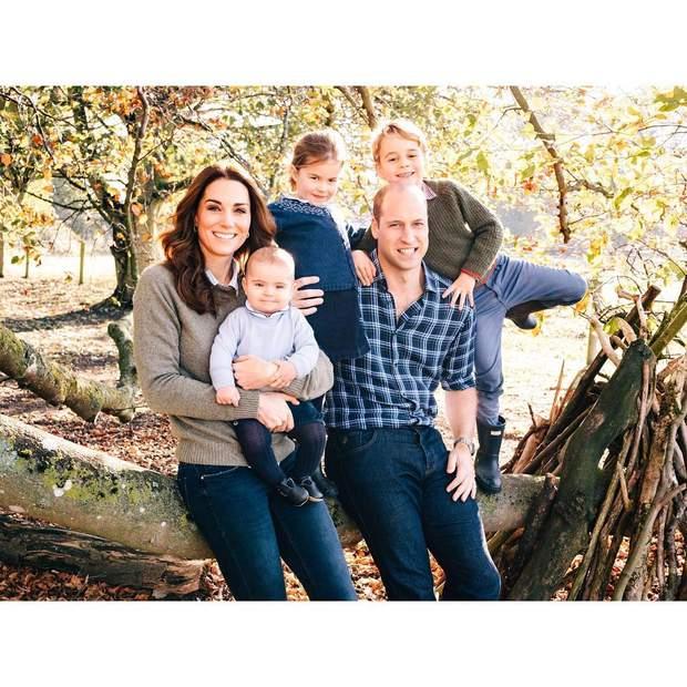 Принц Вільям і Кейт Міддлтон з дітьми / Instagram @kensingtonroyal