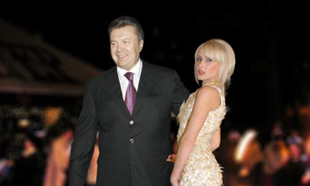 Альона Березовська та Віктор Янукович