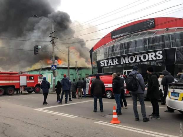 Пожежа в Одесі