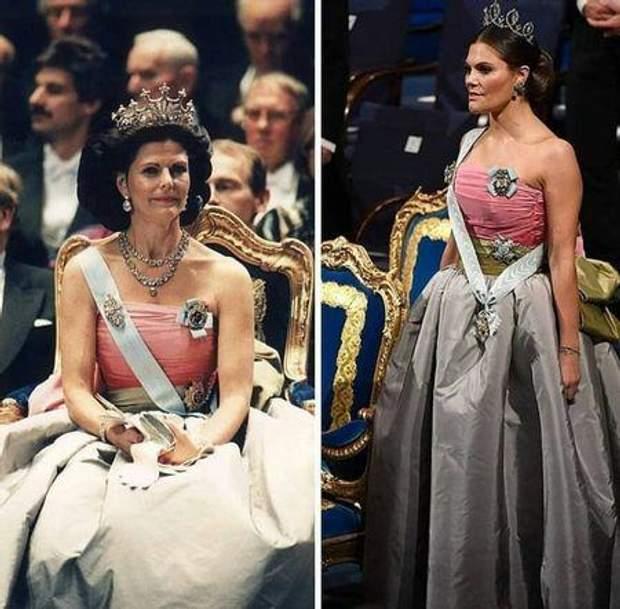 Принцеса Вікторія та королева Сільвія Швеція